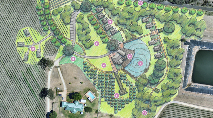 Ascella Eco Resort - Click to view landscape plan